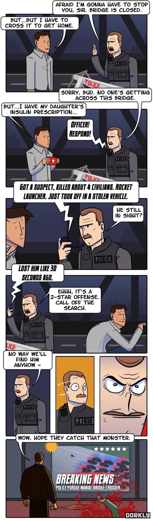 dorkly comics Grand Theft Auto liberty city - 7340573696