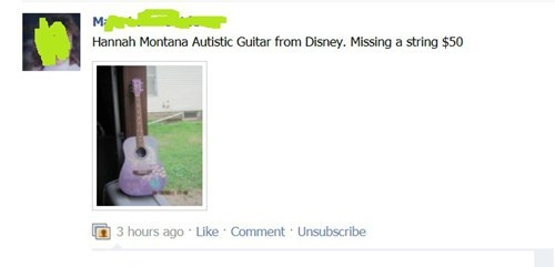 hannah montana,facebook,guitars