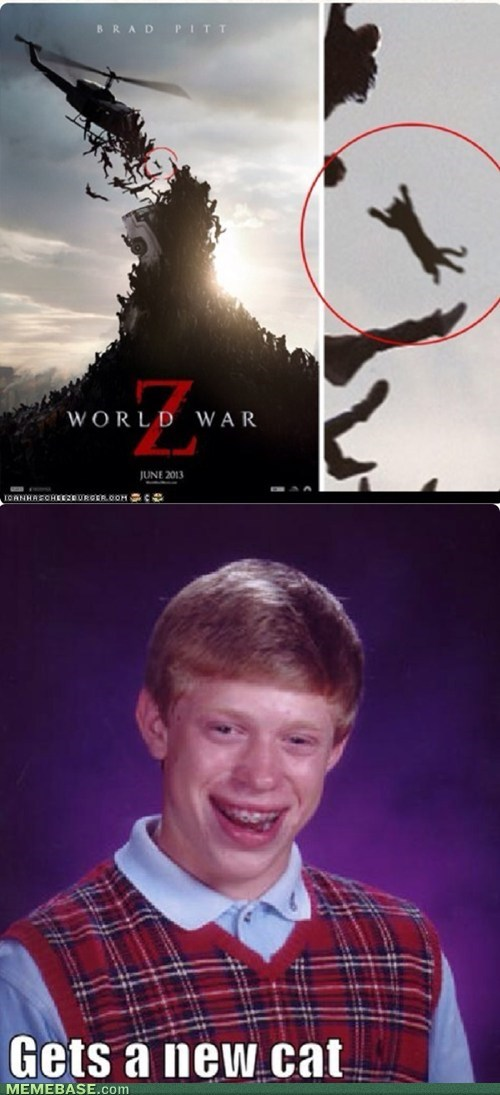 bad luck brian world war z re-frames