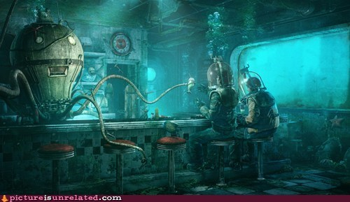 underwater drinking bars wtf awesome robots - 7340758784