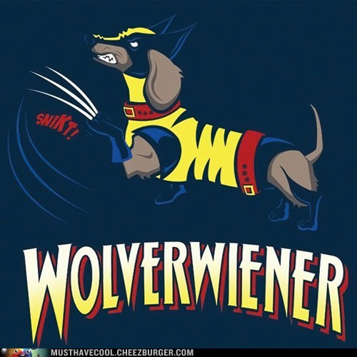 T.Shirt wiener dog wolverine - 7340769024