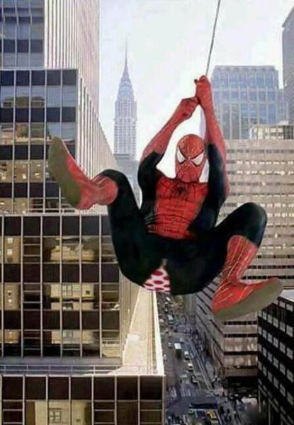 swinging,Spider-Man,underwear