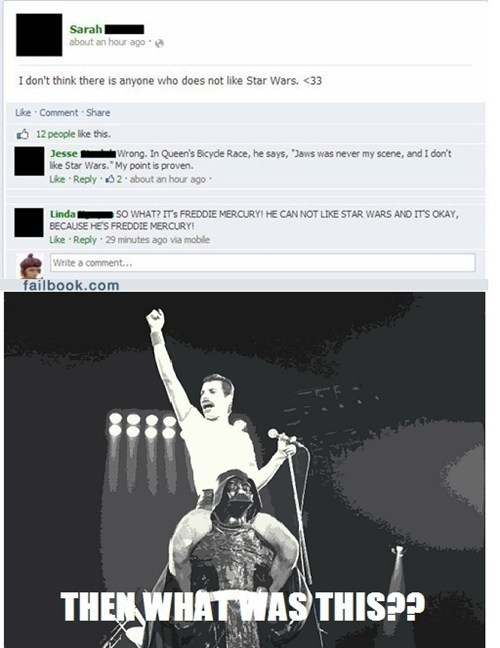 queen freddie mercury facebook darth vader - 7341113600