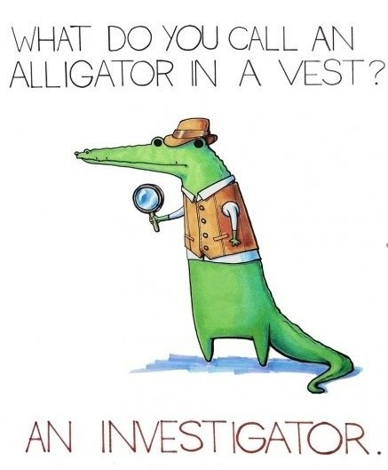 alligator,investigator,vest