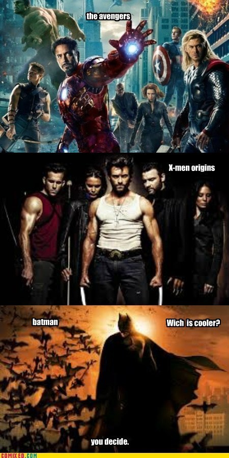 avengers,batman,x men,simple decision