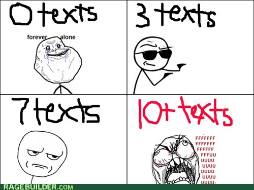 forever alone text messages texting - 7341379072