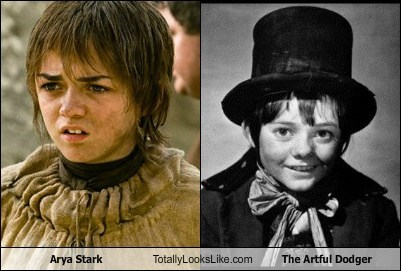 arya stark,totally looks like,the artful dodge