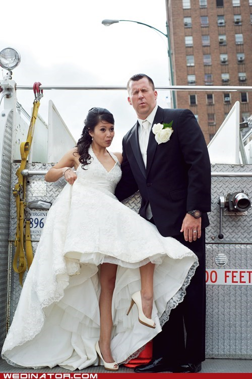crotch hits brides funny faces - 7341859840
