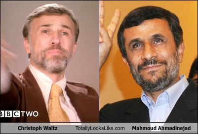 Mahmoud Ahmadinejad,totally looks like,beards,iran,christoph waltz
