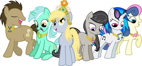 elements of harmony derpy hooves background ponies - 7341954304