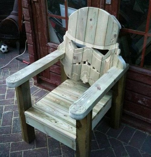 chair star wars stormtrooper design nerdgasm DIY - 7341960448