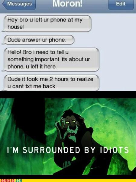 phones,scar,idiots,texting