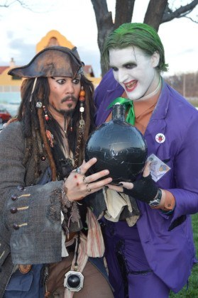 cosplay,the joker,captain jack sparrow