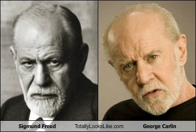 george carlin totally looks like Sigmund Freud - 7342733312