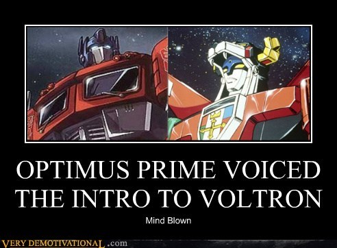 OPTIMUS PRIME VOICED THE INTRO TO VOLTRON Mind Blown