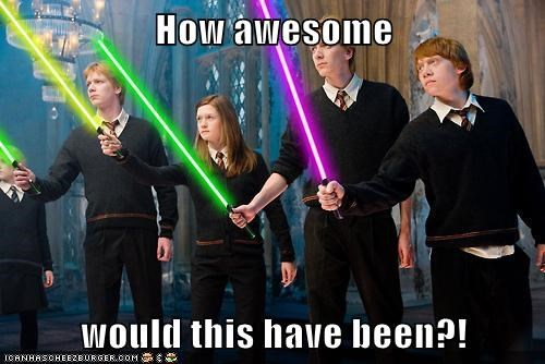 lightsabers photoshop Hogwarts - 7343621376