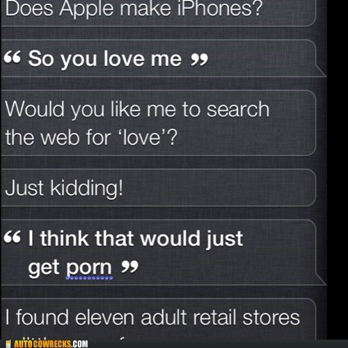 not trying siri love