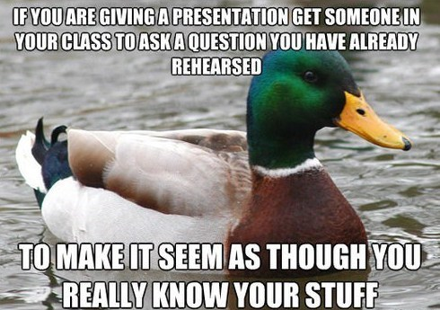 Actual Advice Mallard,presentations,truancy story