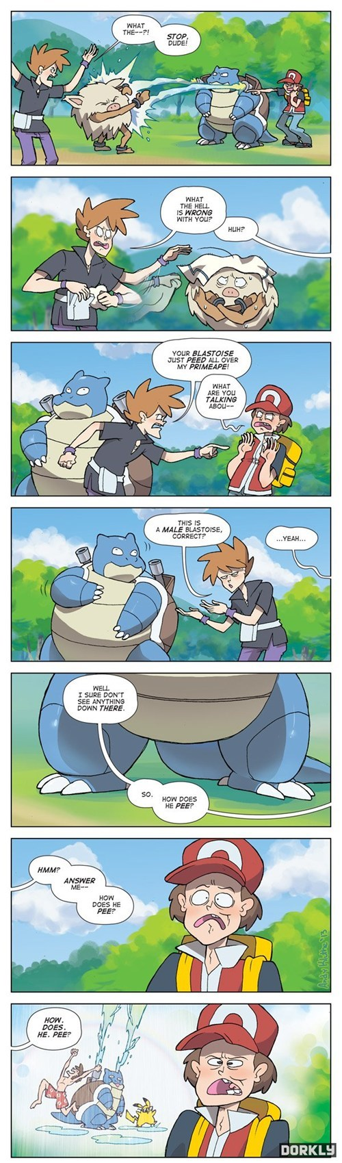 Pokémon,dorkly,blastoise,comics