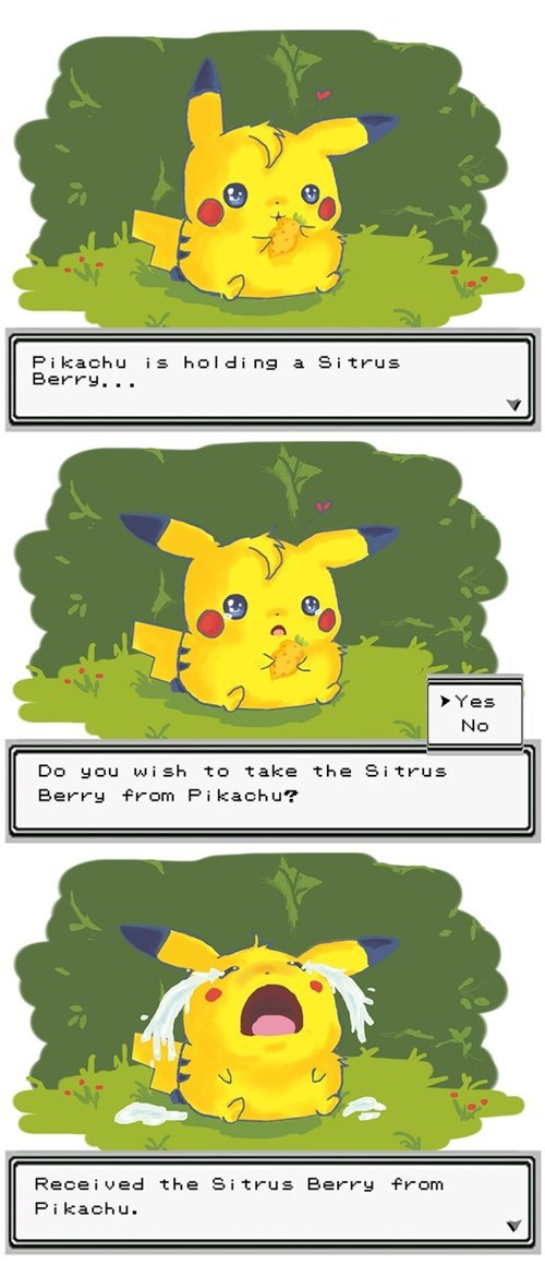 comics dawww berries pikachu - 7346097920