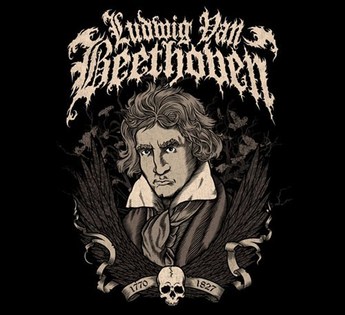 Beethoven,band logos,heavy metal