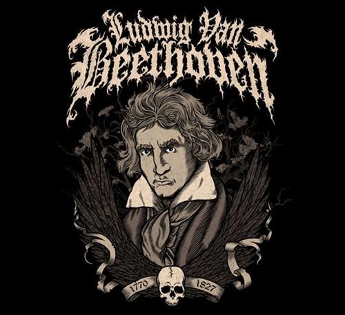 Beethoven band logos heavy metal
