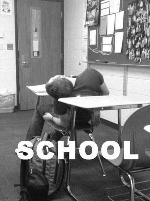 class school bored sleeping - 7346345216