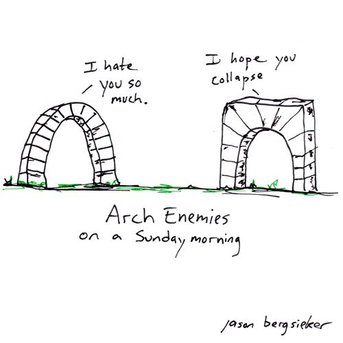 drawing,enemies,arch