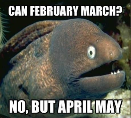 months,may,Bad Joke Eel,april,march