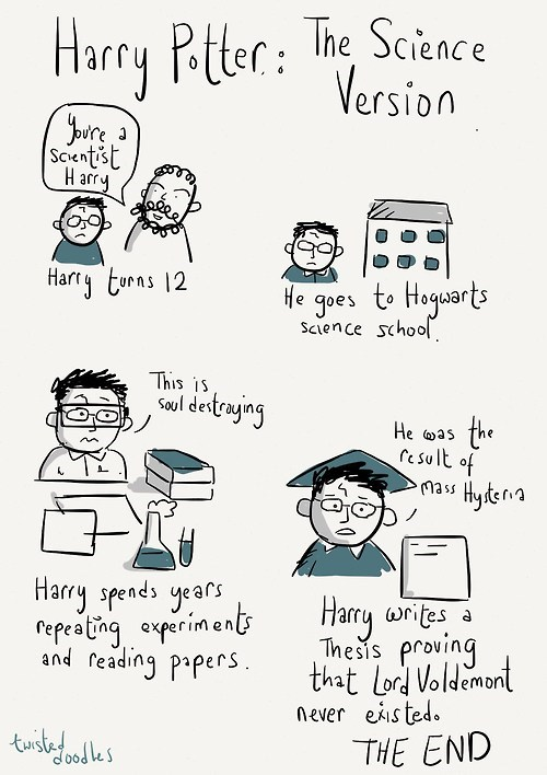 Harry Potter comics science Hogwarts - 7346391808