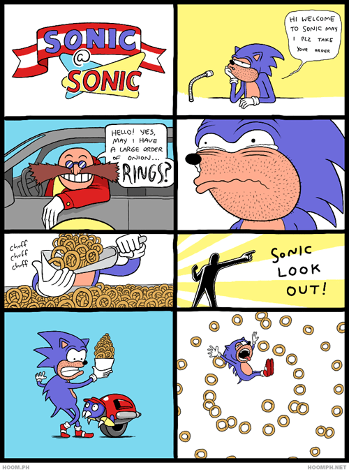 rings,comics,onion rings,sonic
