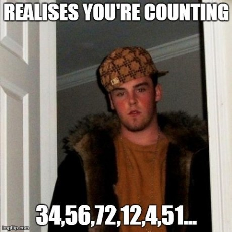 Scumbag Steve counting - 7346533376