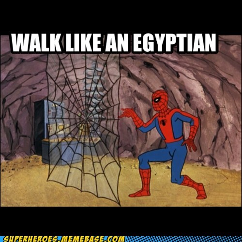 Spider-Man walk like an egyptian dance - 7346542336