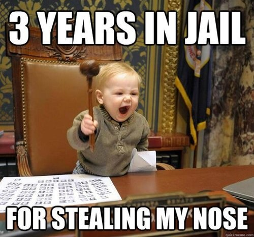 judge baby jail Courtroom crime prison