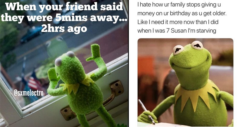 16 Sassy \'Kermit The Frog\' Memes We Definitely Didn\'t Find On \'The Muppets\'