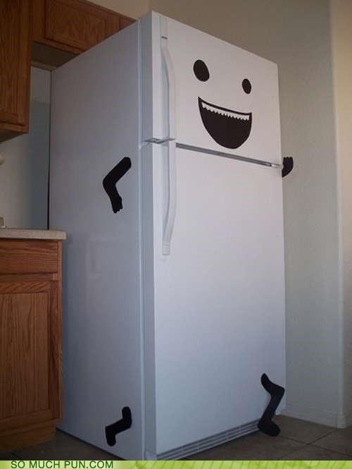 old school refrigerator running - 7348080640