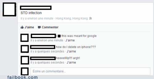 iPhones google search mistaking facebook for google STDs - 7348507136