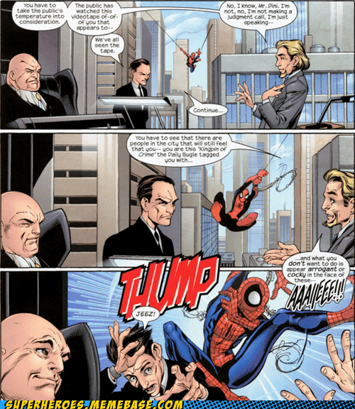 entrance,Spider-Man,off the page