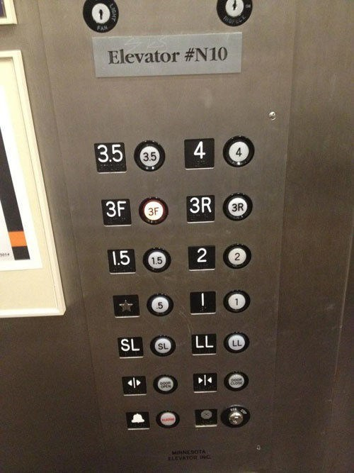 elevators labeling