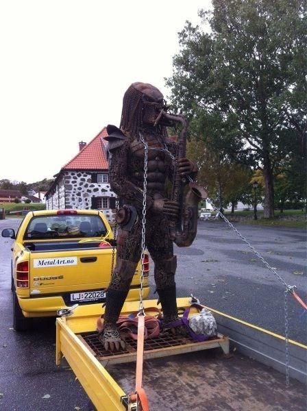 The Predator,statues,saxophones