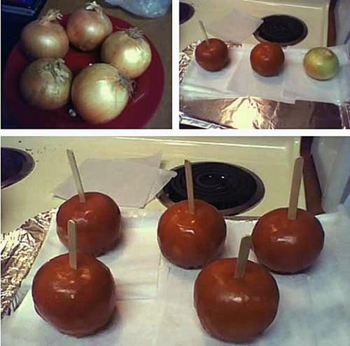 onions caramel apples apples - 7348696320