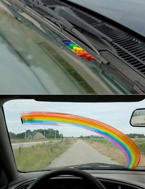 paints raining windshield rainbow - 7348698368