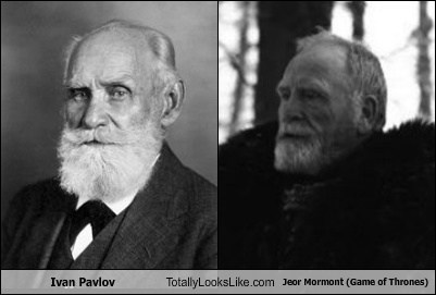 Game of Thrones ivan pavlov totally looks like jeor mormont