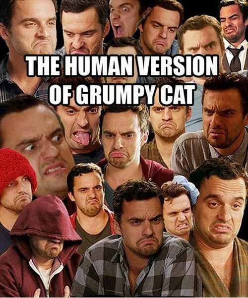 New Girl Grumpy Cat nick miller - 7348879104