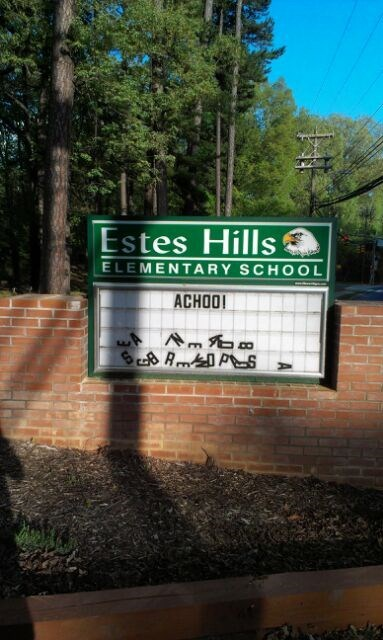 achoo school sign sneeze gesuntheit