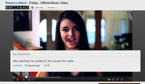 FRIDAY youtube comments Rebecca Black - 7349008896
