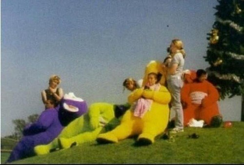 teletubbies,behind the scenes,wtf,actors,costume