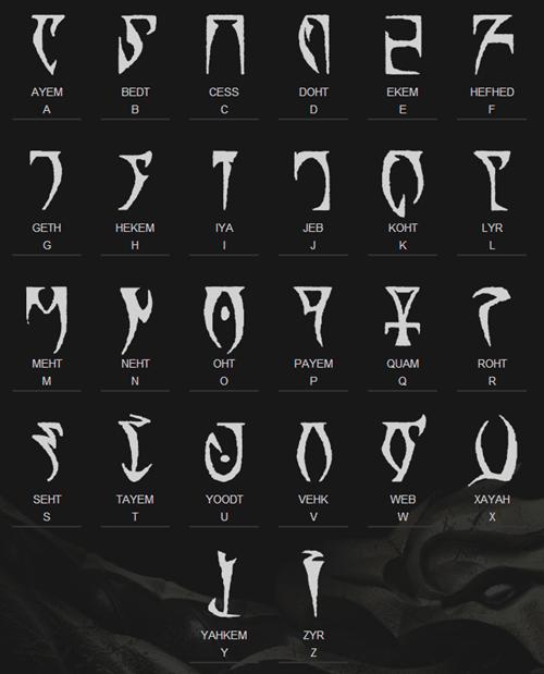 elder scrolls alphabet morrowind oblivion - 7349140736