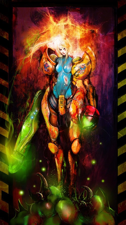 samus,art,video games