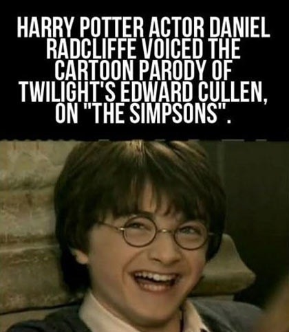 did you know Daniel Radcliffe twilight - 7349161984